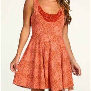 Free People rock princess embellished dress orange